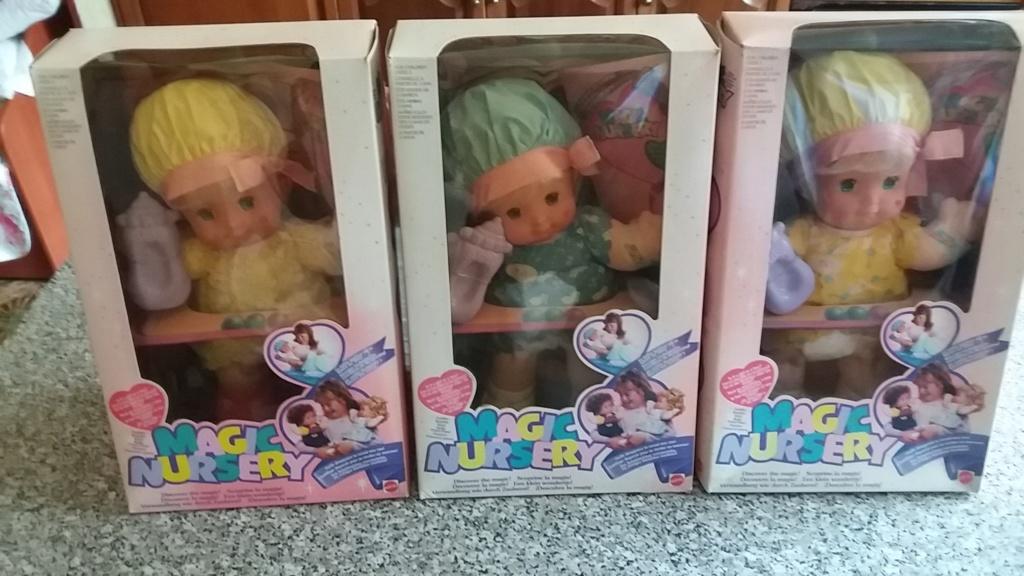 3 bambole mattel magic nursery nuove mai aperte 20180818