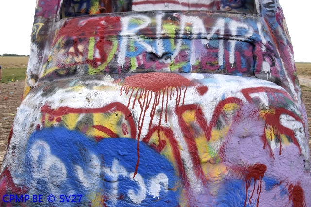 Cadillac Ranch, USA, 21 juillet 201+ A215