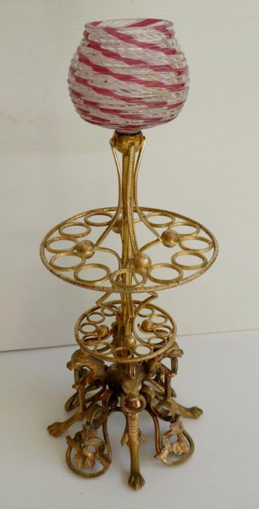 Pied de lampe bronze: objet à identifier 26844310