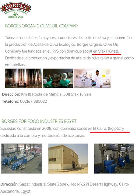Datos mercado aceite: producción, importaciones, exportaciones Borges10