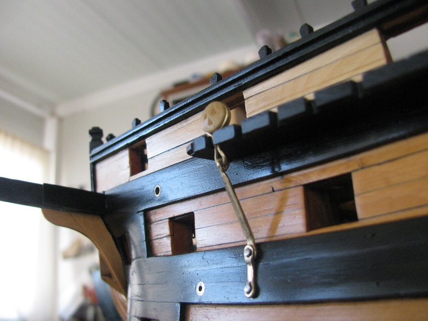 3-mâts barque Pourquoi Pas? - 2) Gréement (Billing Boats 1/75°) de Yves31 - Page 4 Santis12