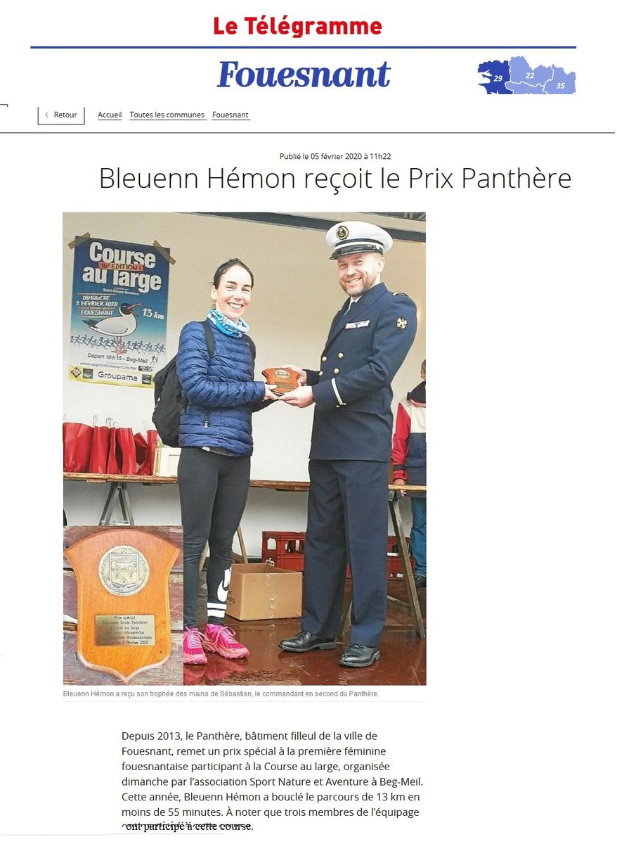 BE PANTHERE et sa ville marraine : FOUESNANT - Page 25 011