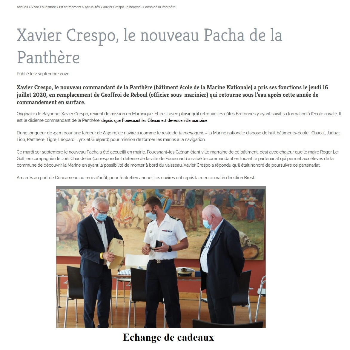 BE PANTHERE et sa ville marraine : FOUESNANT - Page 26 0_arti10