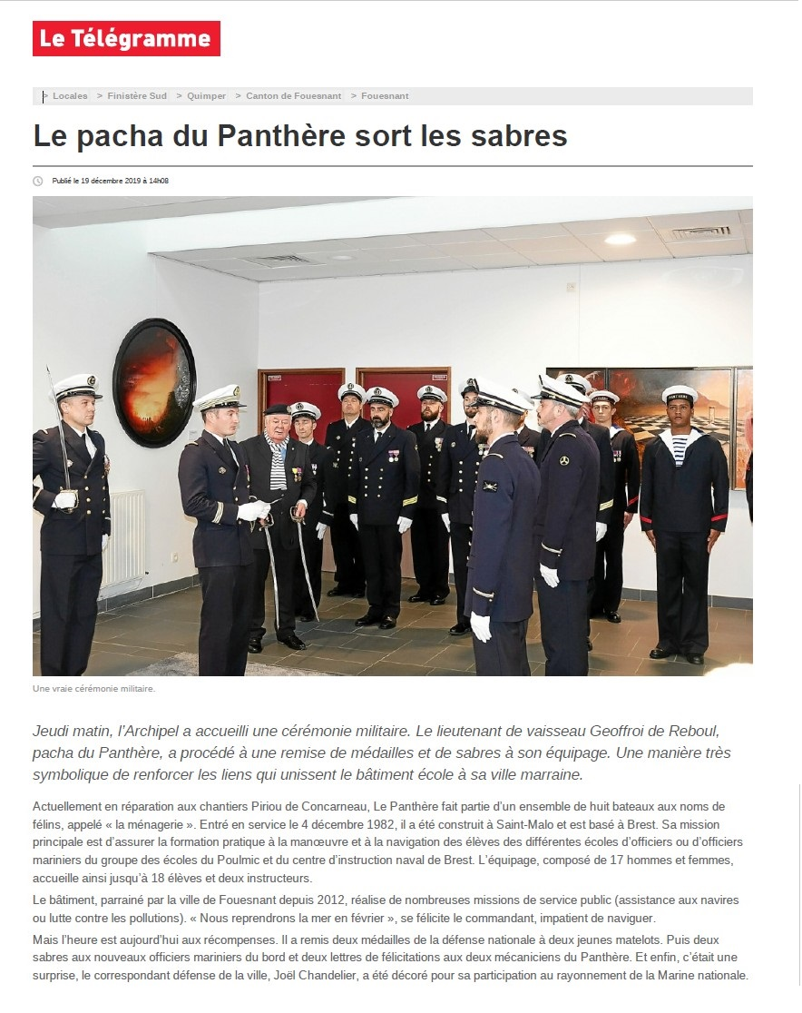 BE PANTHERE et sa ville marraine : FOUESNANT - Page 24 163