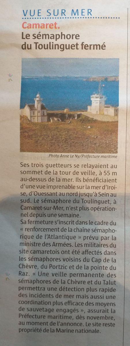 SÉMAPHORE - LE TOULINGUET  - PRESQU'ÎLE DE CROZON (FINISTÈRE) - Page 2 20190910