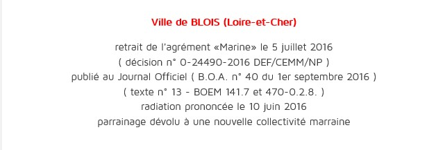 [Les traditions dans la Marine] Les Villes Marraines - Page 13 Blois10