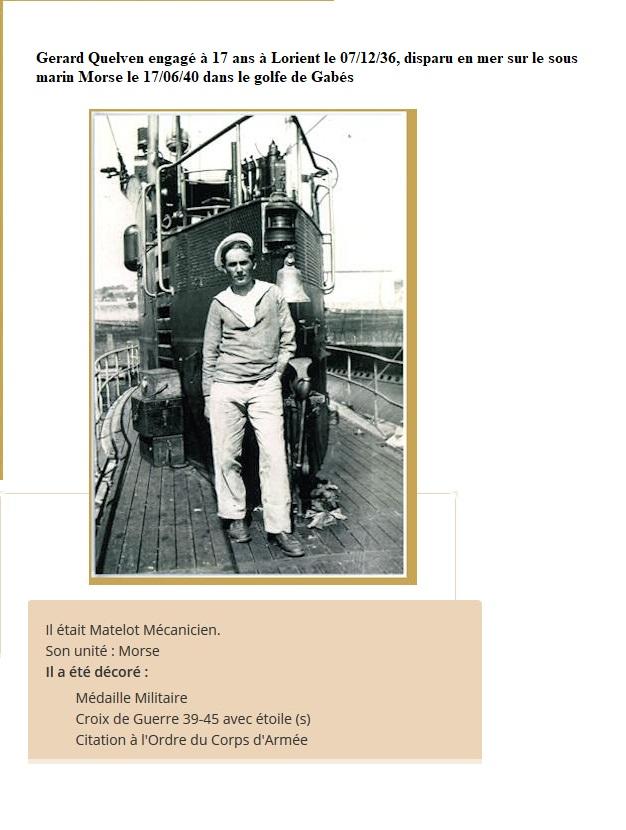[ Histoires et histoire ] Gerard Quelven Mot mécanicien mort pour la France le 17 juin 1940 Gerard10