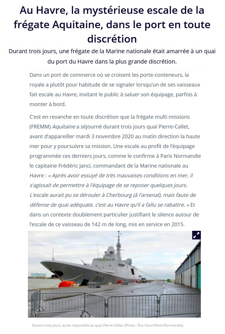 FREMM Aquitaine (D650) - Page 5 Havre10