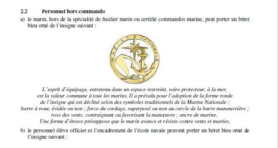Du nouveau pour les anciens Marins (hors commandos) sur la tenue lors des cérémonies patriotiques Instru11