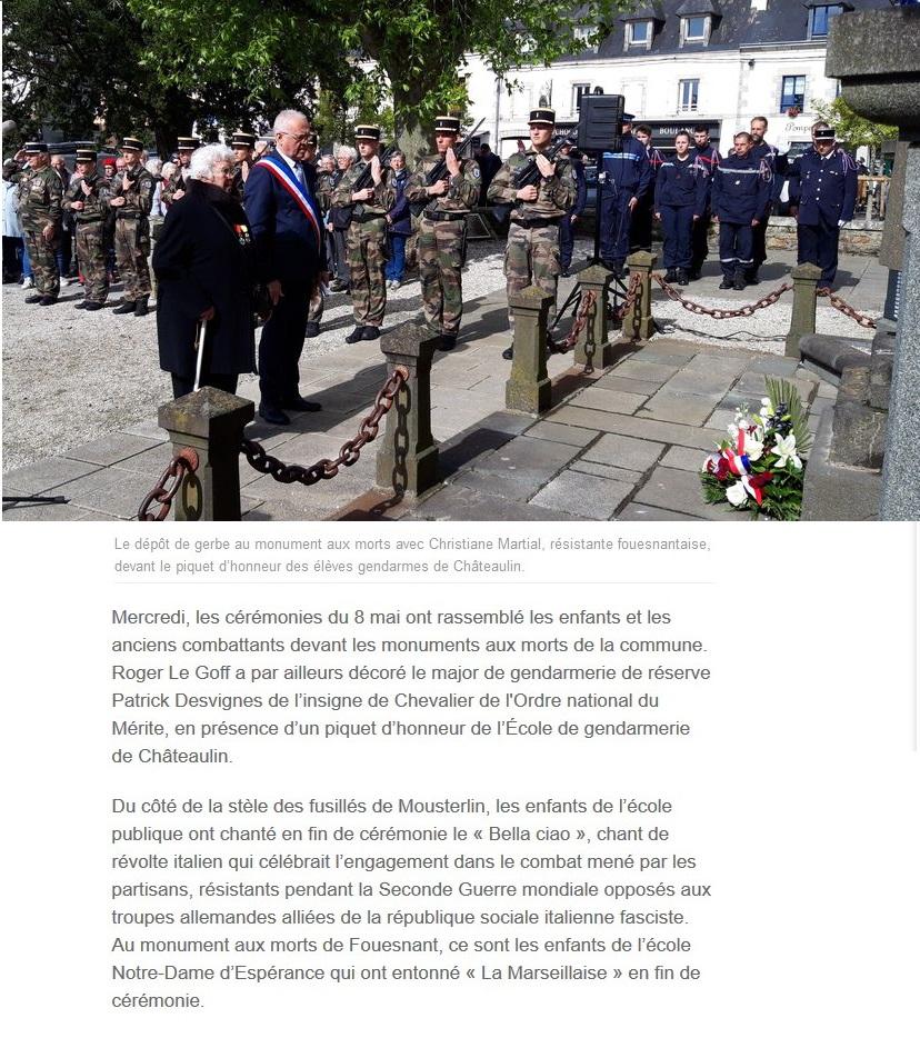 [ Histoires et histoire ] Commémoration du 8 mai 1945 à Fouesnant Le_tel10