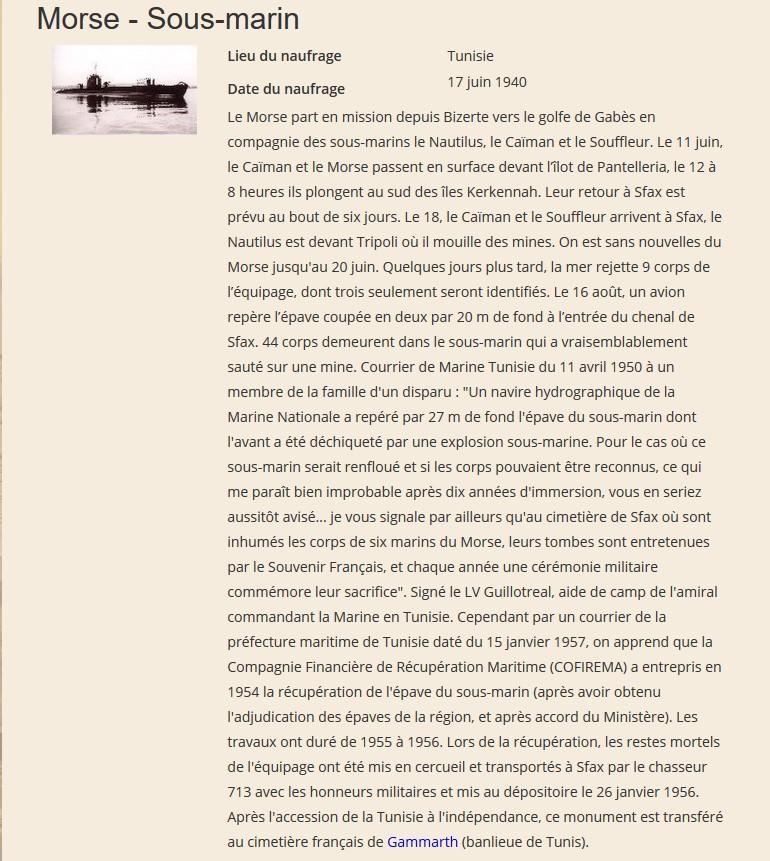[ Histoires et histoire ] Gerard Quelven Mot mécanicien mort pour la France le 17 juin 1940 Morse10