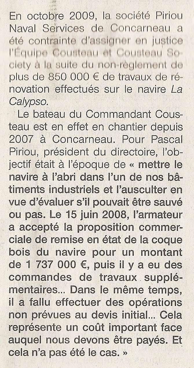 [AUTRES SUJETS DIVERS] LA CALYPSO - Page 14 Numari10