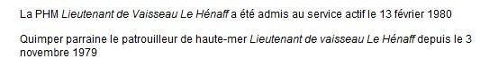 LIEUTENANT DE VAISSEAU LE HENAFF (AVISO) - Page 7 Quimpe10