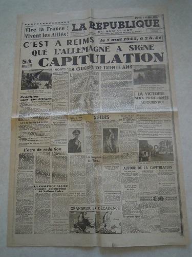 Mai-septembre 1945 : les journaux de la fin de la Seconde Guerre mondiale Dscn7741