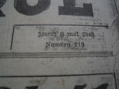 Mai-septembre 1945 : les journaux de la fin de la Seconde Guerre mondiale Dscn7742