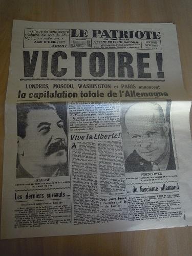 Mai-septembre 1945 : les journaux de la fin de la Seconde Guerre mondiale Dscn7743