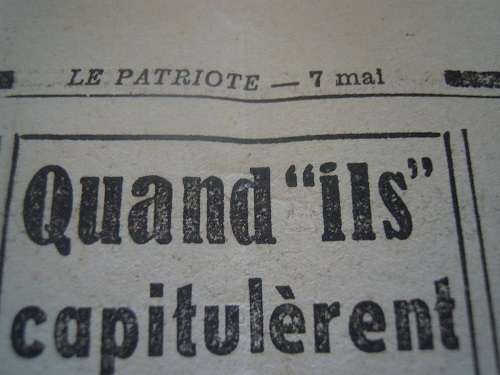 Mai-septembre 1945 : les journaux de la fin de la Seconde Guerre mondiale Dscn7745