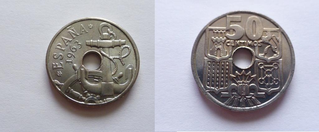 50 céntimos 1963 (*19-65). Estado Español. FLOR DE CUÑO P1070615