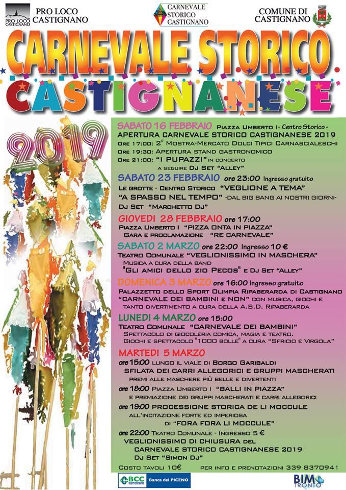 CARNEVALE STORICO CASTIGNANESE - Dal 16 Febbraio al 5 Marzo - CASTIGNANO (AP) 50641910