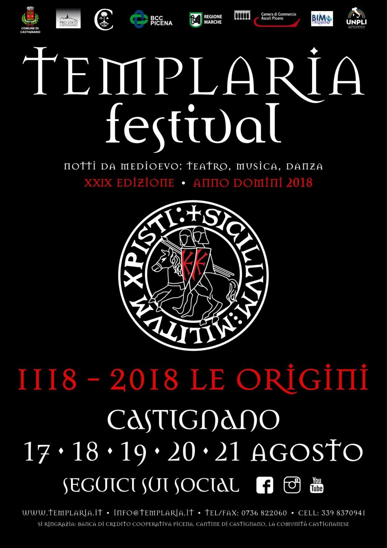 TEMPLARIA festival 2018 - Castignano (AP) dal 17 al 21 Agosto  Manife10