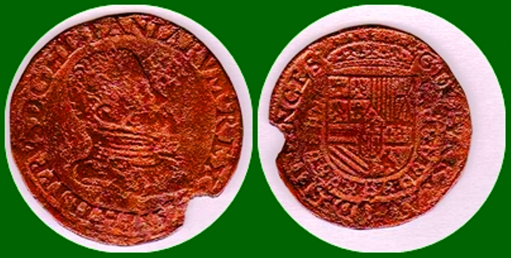 Jetón de Felipe II. Oficina de Finanzas 1573_f10