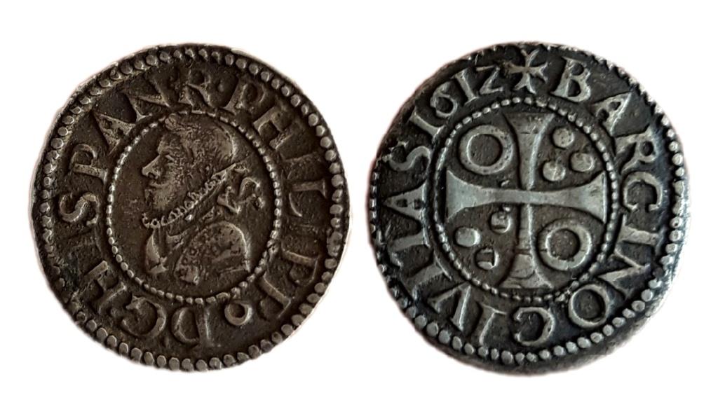 1/2 croat 1612. Felipe III. Barcelona 111