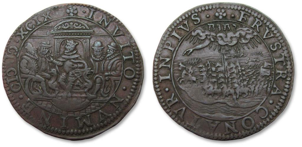 Jetón holandés de 1599. La campaña del Cardenal Andrés de Austria en el Rin Jeton310
