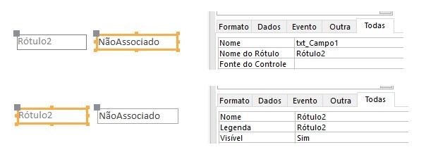 [Resolvido]Exibir nome do rótulo do campo associado. Modelo10
