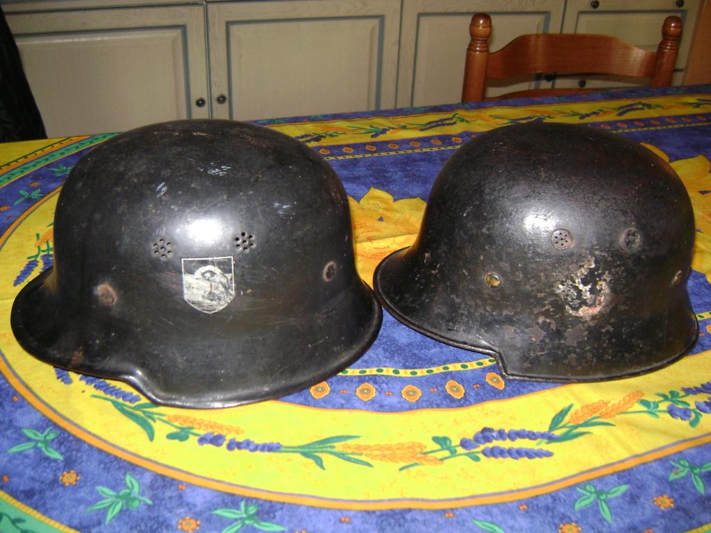 Casque de pompiers allemand en aluminium. Dsc07025