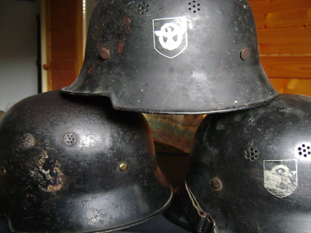 Casque de pompiers allemand en aluminium. Dsc08719