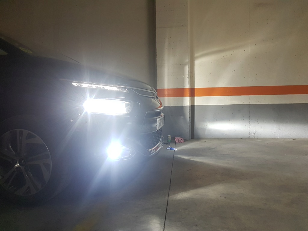 Sustitución luces halogenas por led en faros. 20180621