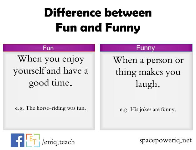 الإختلاف بين Fun و Funny في اللغة الانكليزية  Eniq_t10