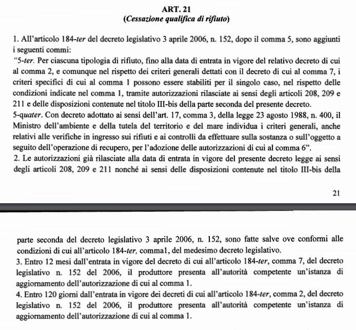 """Bozza DL """"semplificazioni"""": novità in vista sull'EoW Cattur11"""