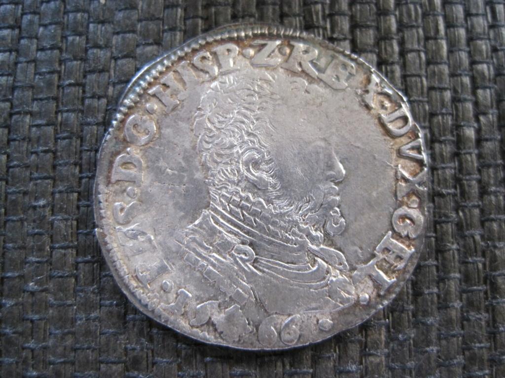 1/5 escudo de Felipe II, Nimega, dedicada a JO3023. Ref13015