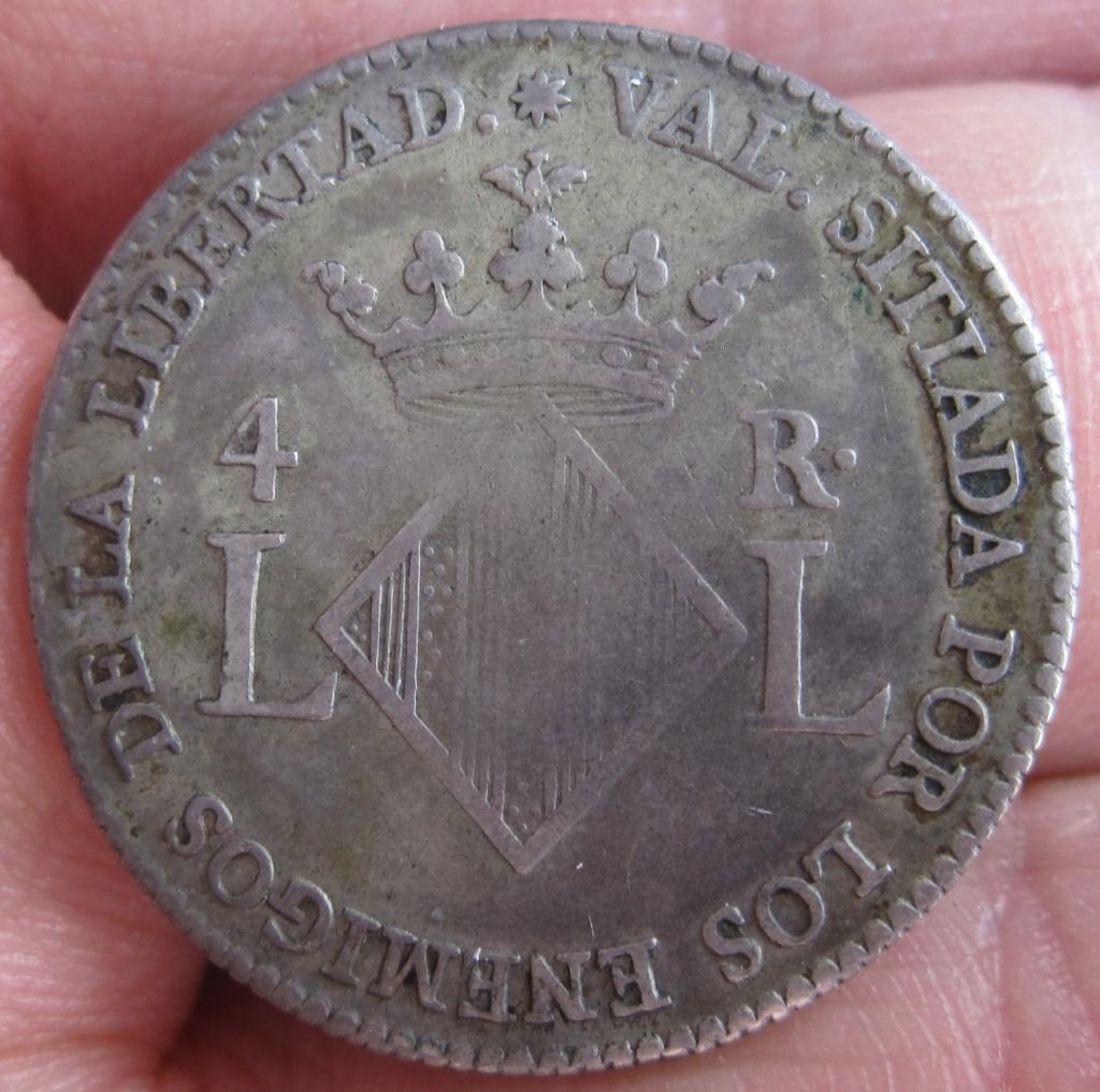 4 reales 1823. Fernando VII. Valencia. Dedicada a todos los Valencianos del Foro Ref30911