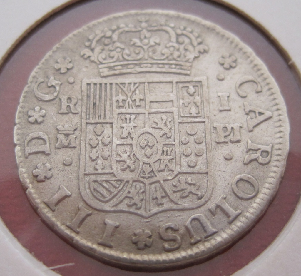 1 real de Carlos III de Madrid, 1766 - Página 2 Ref32210