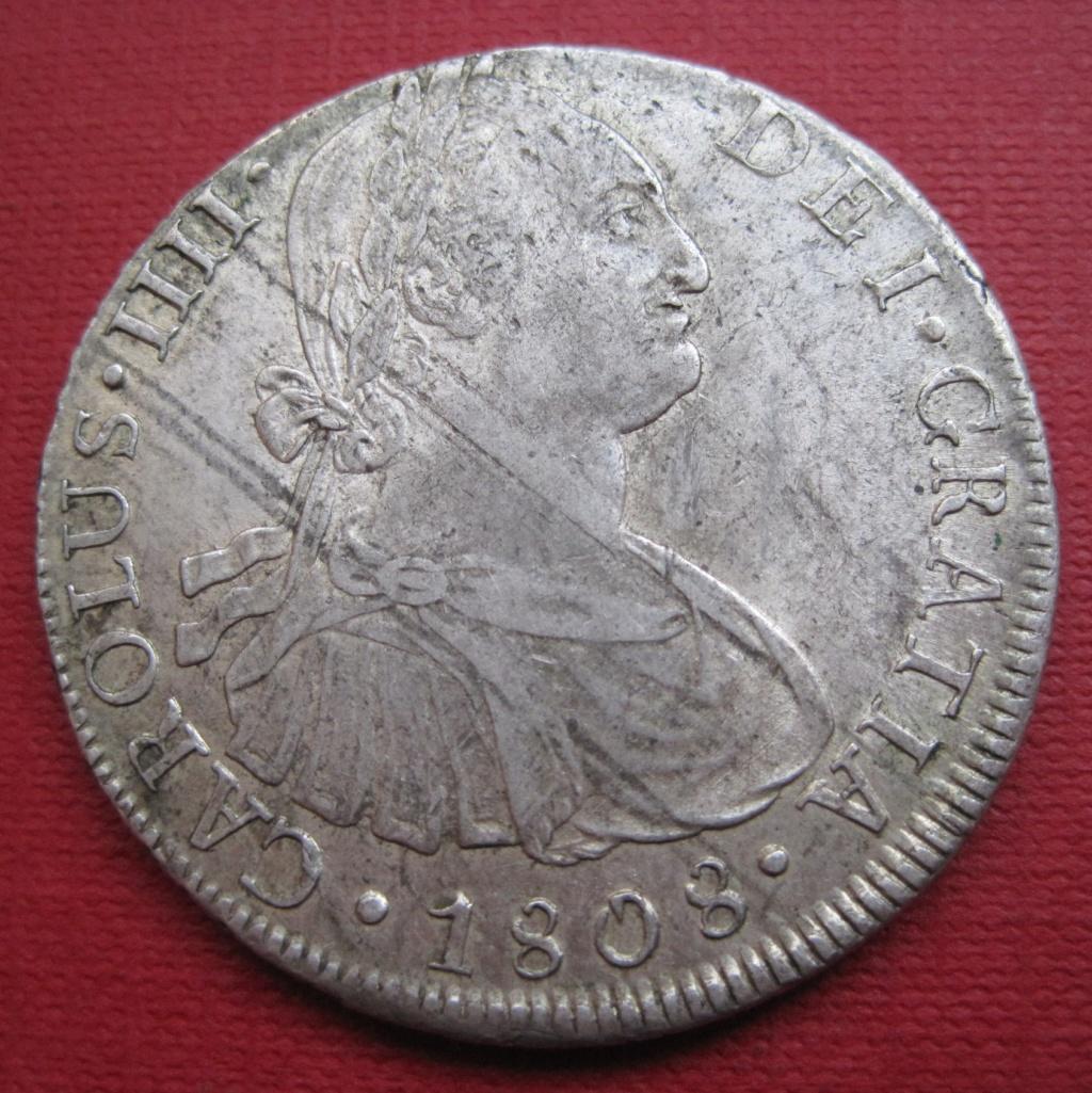 8 Reales 1808. Carlos IV. Lima Ref39211