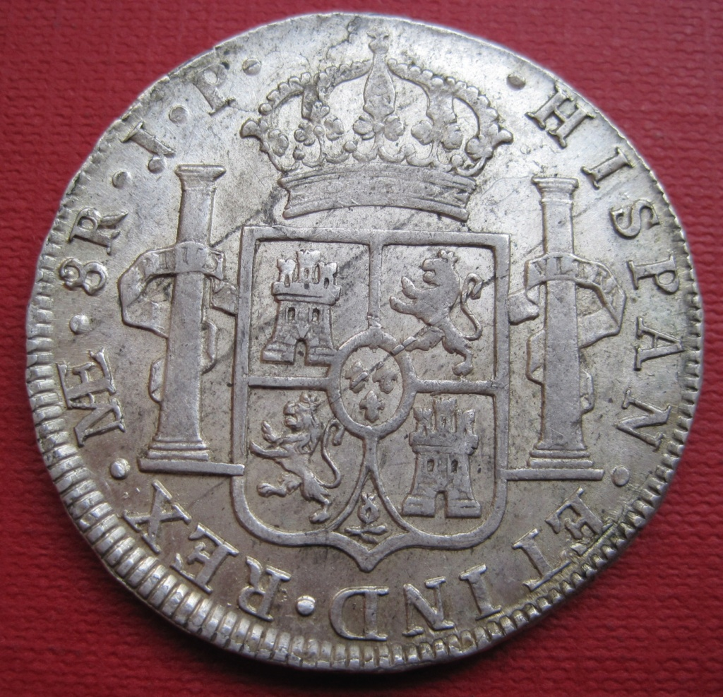 8 Reales 1808. Carlos IV. Lima Ref39212