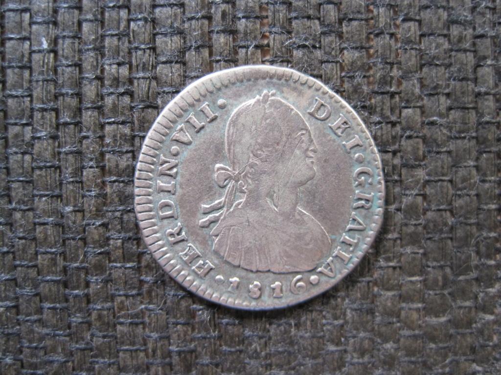 1 Real 1816. Fernando VII. Santiago. Busto Carlos IV Ref45c10