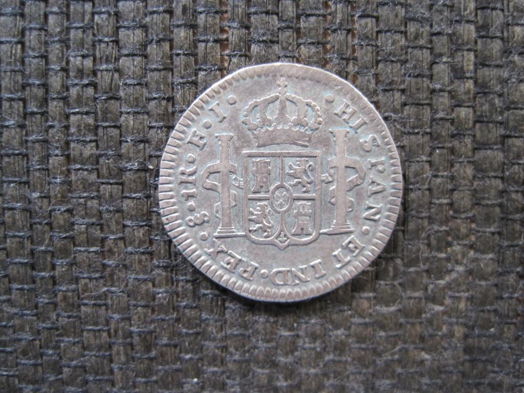1 Real 1816. Fernando VII. Santiago. Busto Carlos IV Ref45c11