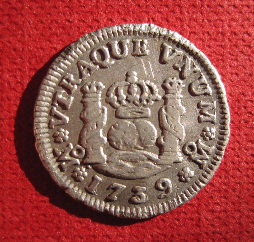 1/2 Real Columnario de Felipe V 1739 ceca Mexico Ref49910