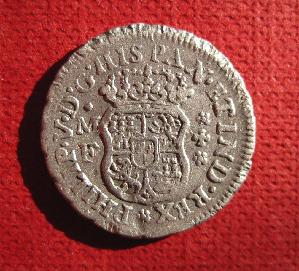 1/2 Real Columnario de Felipe V 1739 ceca Mexico Ref49911