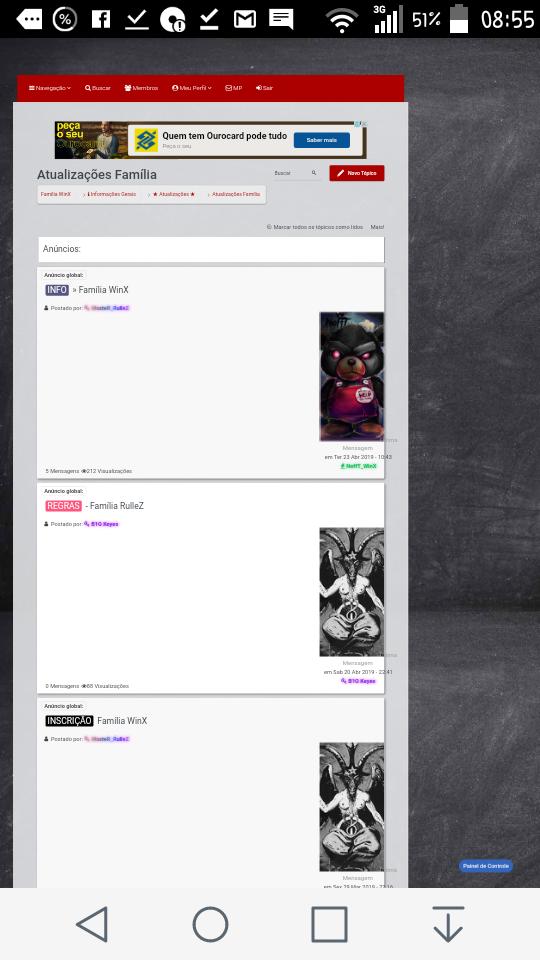 Tópicos personalizados Screen18
