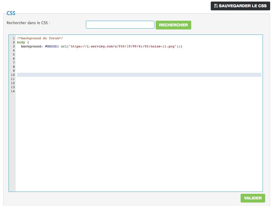 La feuille de style CSS Code10