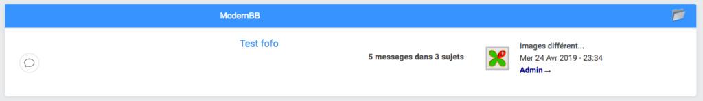 """Modifier l'affichage """"Sujets"""" et """"Messages"""" sur l'index Mess11"""