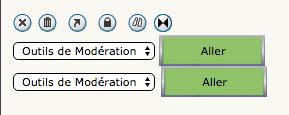"""Outils de modération, modifier l'option """"Sélectionner"""" Mod210"""
