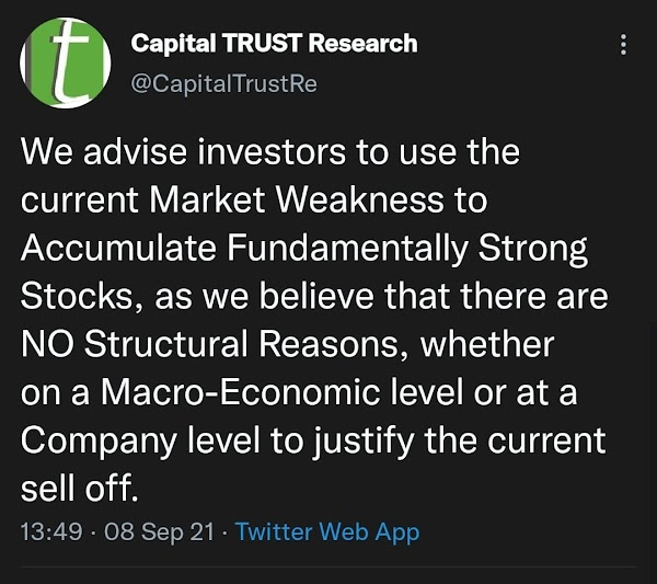 Capital Trust advises its clients not sell but buy more shares! Ia10