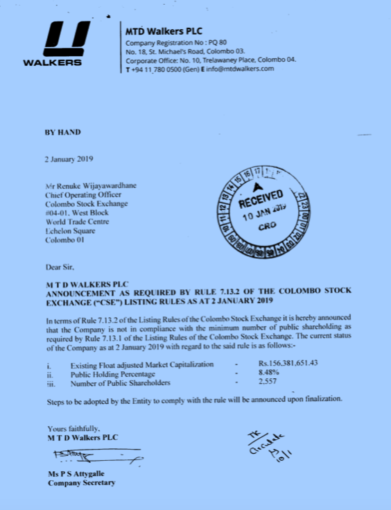 Sri Lankan public listed companies are violating listing Rules.  Screen18