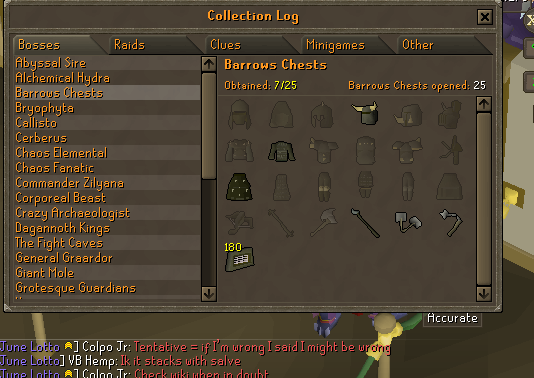 Wanted to try out 50 barrows chests to finally start barrows and welp...  X D  Barrow12