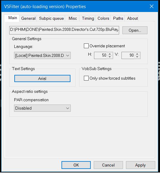 Cannot load external subtitle Vobsub11